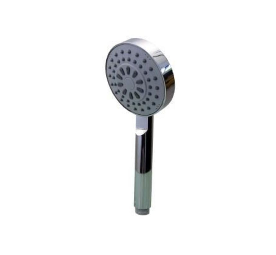 Waterbesparende douchekop van chroom