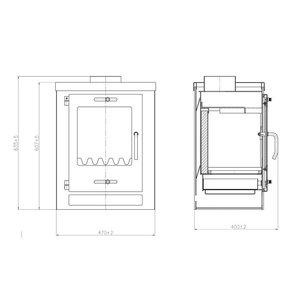 Skladova Tehnika Cube vrijstaande houtkachel 5 kW