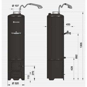 ELDOM Favourite Hout gestookte warm water boiler, 80 liter