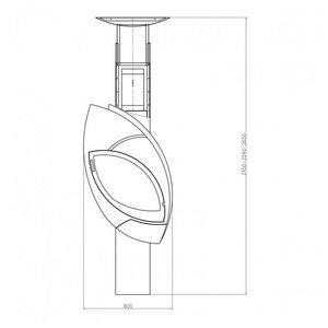 Skladova Tehnika Fuoco design houtkachel (12 kW)
