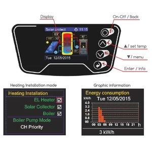 ELDOM Green Line Elektrische boiler 80L met warmtewisselaar en digitale bediening