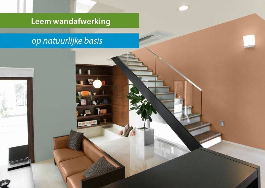 Natuurlijke en hoogwaardige stuc wandafwerking met leem