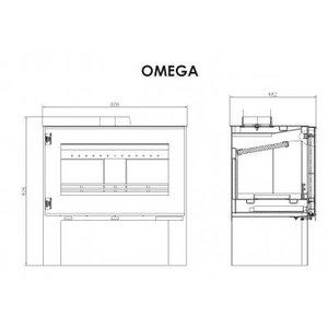 Victoria Omega vrijstaande houtkachel 11 kW