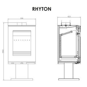 Victoria Rhyton vrijstaande houtkachel 9 kW
