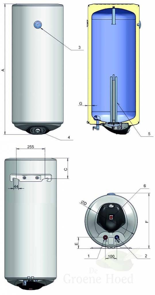 doorsnede camping boiler