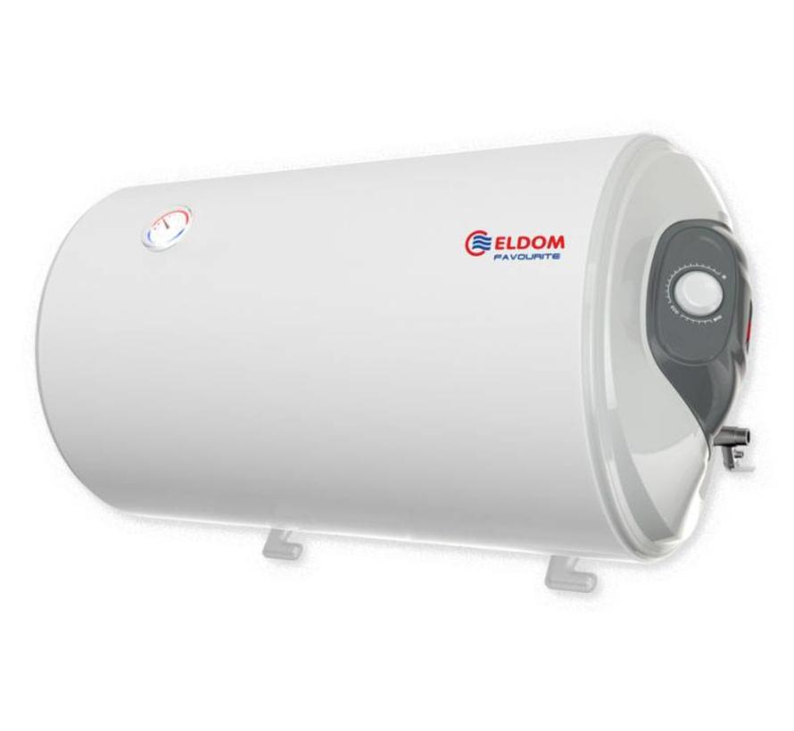 Elektrische Boiler 80L, horizontaal, 2kW, emaille, aansluiting links of rechts