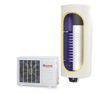 ELDOM Green Line Lucht-water warmtepomp met extra warmtewisselaar, 150L, tapwater