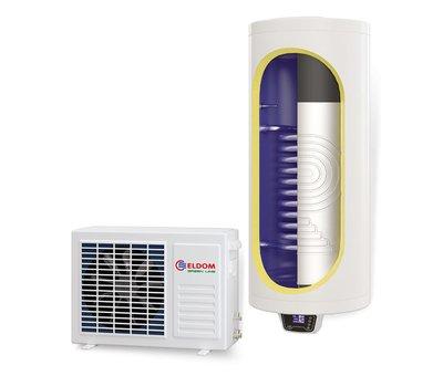 ELDOM Green Line Lucht-water Warmtepompboiler 150 liter met extra warmtewisselaar, voor tapwater