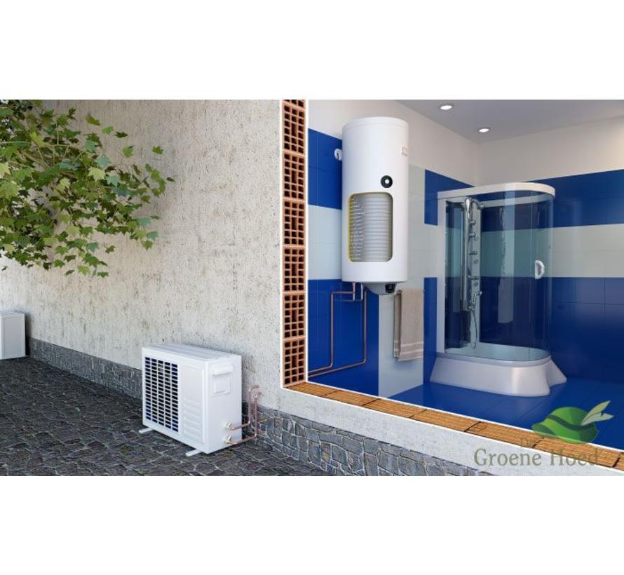 Lucht-water Warmtepompboiler 120 liter met extra warmtewisselaar, voor tapwater