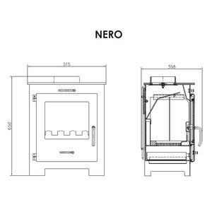 Victoria Nero vrijstaande houtkachel 6 kW