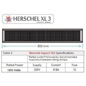 Herschel Aspect XL3 - Verwarming voor binnenplaatsen