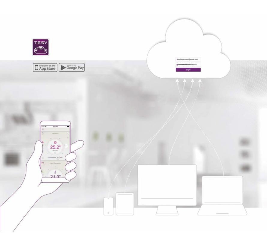 Verticale elektrische smart boiler 50L, Modeco Cloud 1.6kW