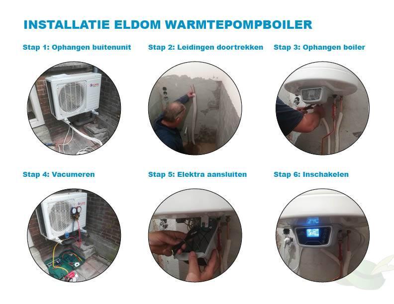 Installatie warmtepomp boiler in beeld uitgelegd de groene hoed
