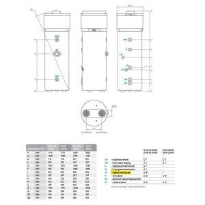 Tesy Warmtepomp boiler 200L met warmtewisselaar