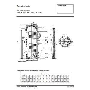 Austria Email HT 200 ERMR, 200 liter buffervat met warmtewisselaar