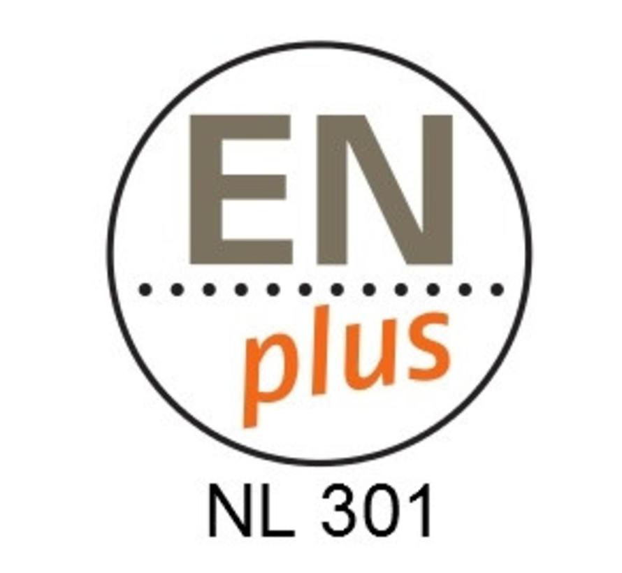 65 zakken 5-sterren ENplus A1 witte houtpellets Pure Power (1 pallet)