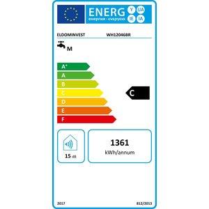 ELDOM Favourite Elektrische Boiler 120L, horizontaal, 3kW, emaille, elek aansluiting rechts, water aansluiting aan de onderzijde