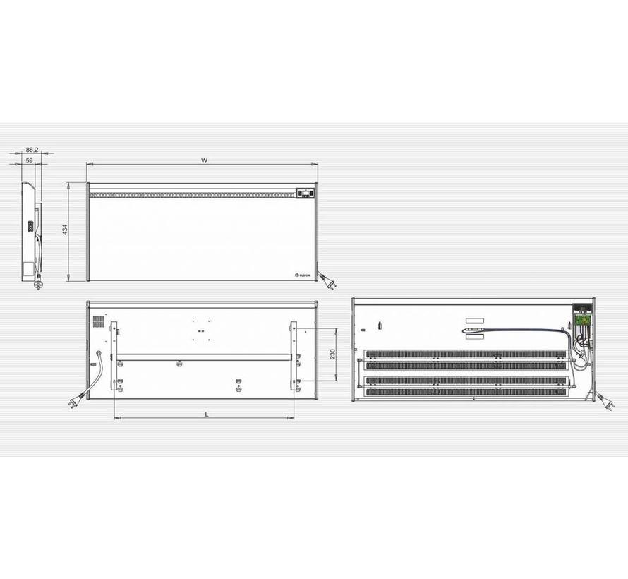 Elektrische wandconvector van 3,0 kW ErP- De Groene Hoed Duurzaam ...