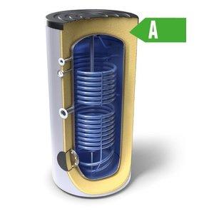 Tesy Buffertank 200 liter,  A label, met dubbele warmtewisselaar