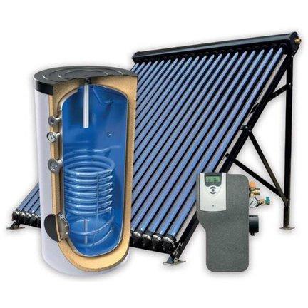 Complete set (boiler + collector) voor warm tapwatersystemen