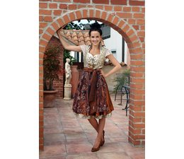 Astrid Söll Dirndl Couture Modell Glamour Brown by Trachtine