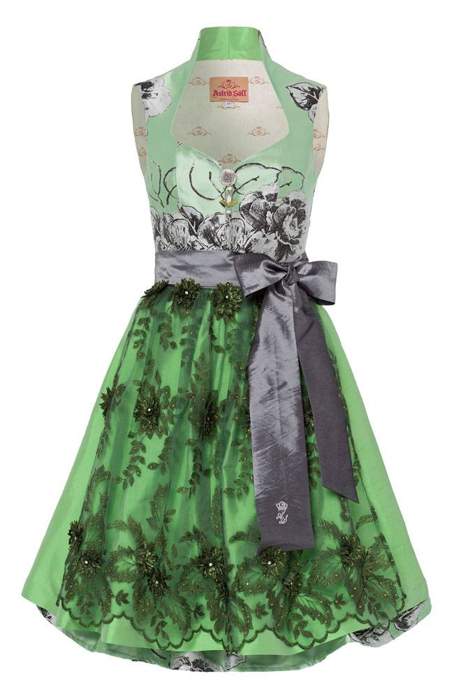 astrid s ll dirndl couture mohnblume kiwi trachtine. Black Bedroom Furniture Sets. Home Design Ideas