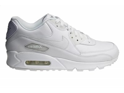 Nike Air Max 90 Leather (White/White) 302519 113 Sneakers