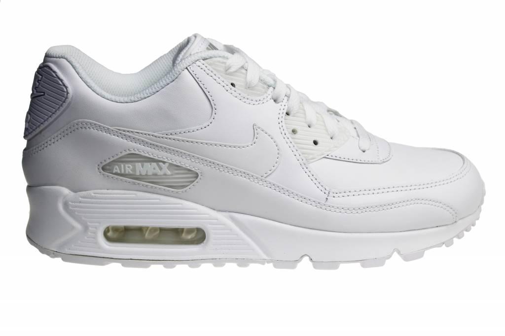Nike Air Max 90 Leather 302519 113 (White White)   Sneakerpaleis 1a0c08dbb2f5