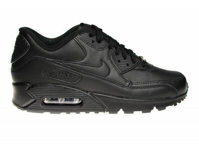 "Nike Air Max 90 Leather ""Zwart Leer"" 302519 001 Sneakers"