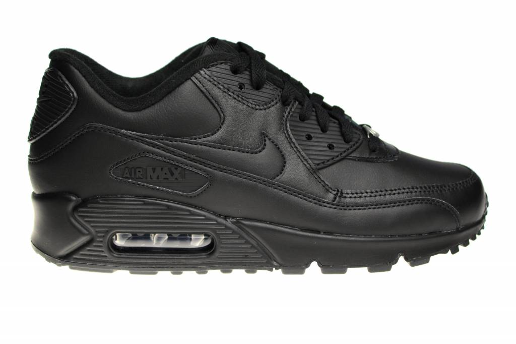 Nike Air Max 90 Leather 302519 001 All Leather Black   Sneakerpaleis 512790460640
