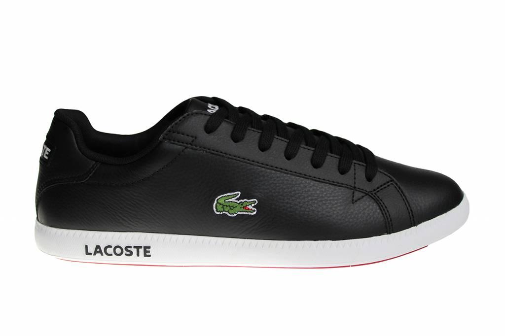 Lacoste Graduate LCR3 SPM Blk Blk (Black White) Lth Syn 7-31SPM009602H  Men s Shoes 8c68fd517f
