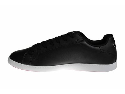 Lacoste Graduate LCR3 SPM Blk/Blk (Black/White) Lth/Syn 7-31SPM009602H Men's Shoes