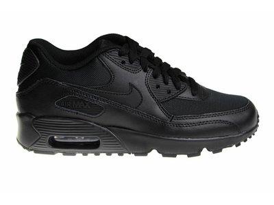 Nike Air Max 90 Mesh (GS) All Black 833418 001 Kids Sneakers