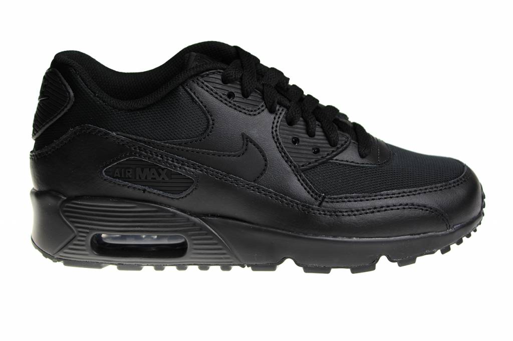 huge selection of afafc 62ebc ... czech nike air max 90 mesh gs all black 833418 001 kids sneakers affc0  a4e35