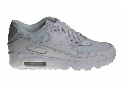 Nike Air Max 90 Mesh (GS) All White 833418 100 Kids Sneakers