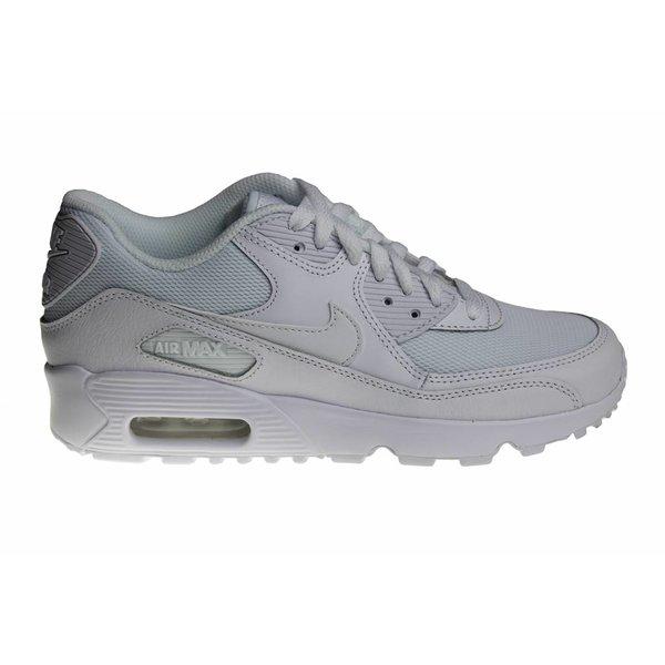 Nike Air Max 90 Mesh (GS) All White 833418 100 Kids Sneakers