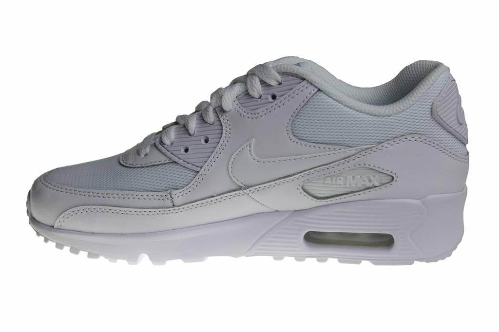 Nike Air Max 90 Mesh (GS) 833418 100 All White Kids ...