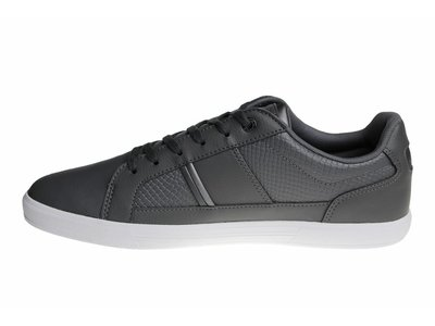 Lacoste Europa Spm Gry Lth/Syn (Gray/White) 7-34SPM0044248 Men's Shoes