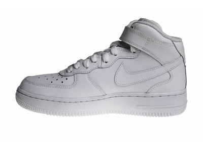 Nike Air Force 1 Mid (GS) Helemaal Wit 314195 113 Kinder Sneakers