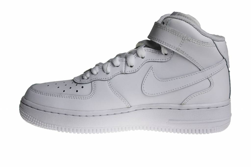 finest selection 0b3f9 e0843 Nike Air Force 1 Mid (GS) All White 314195 113 Kids Sneakers ...