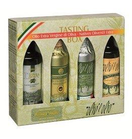 Merano Natives Olivenöl extra - Tasting-Box 4x100 ml.