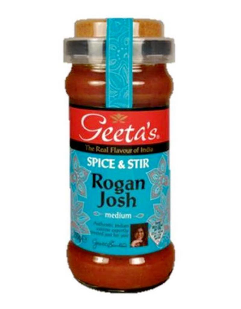 "Geeta´s Geeta´s Rogan Josh ""medium"" Spice & Stir 350g"