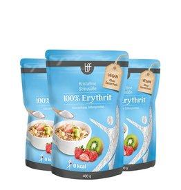 bff borchers bff Kristalline Streusüße 100% Erythrit 1200g (3x400g)