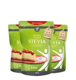 bff borchers bff Stevia kristalline Streusüße mit Erythrit 900g (3x300g)