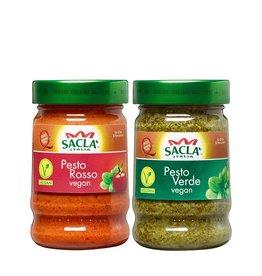 Sacla Saclá Pesto Vegan Probierpaket 380g (2x190g)