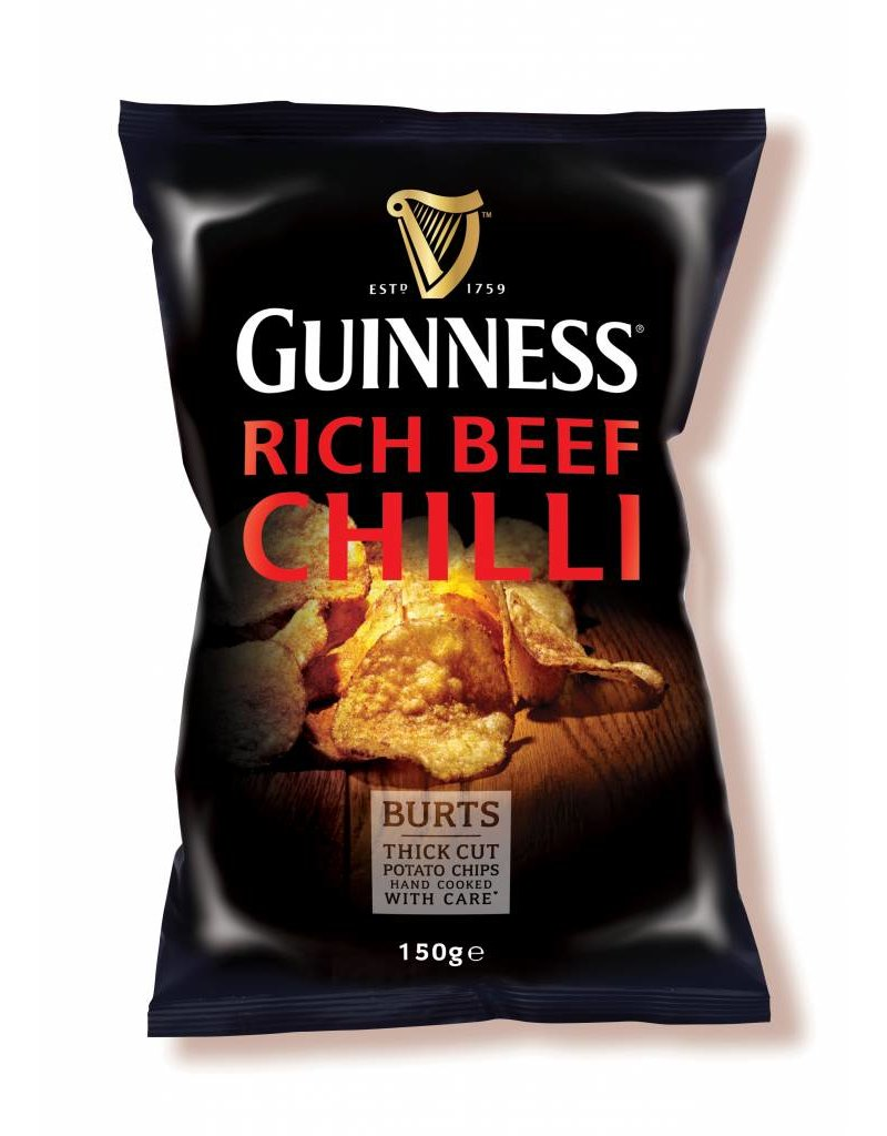 "BURTS 8 x Guinness Chips ""RICH CHILLI"" 150g"