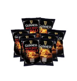 "BURTS 4x Guinness Chips ""GUINNESS FLAVOUR"" 150g + 4 x Guinness Chips ""RICH CHILLI"" 150g"