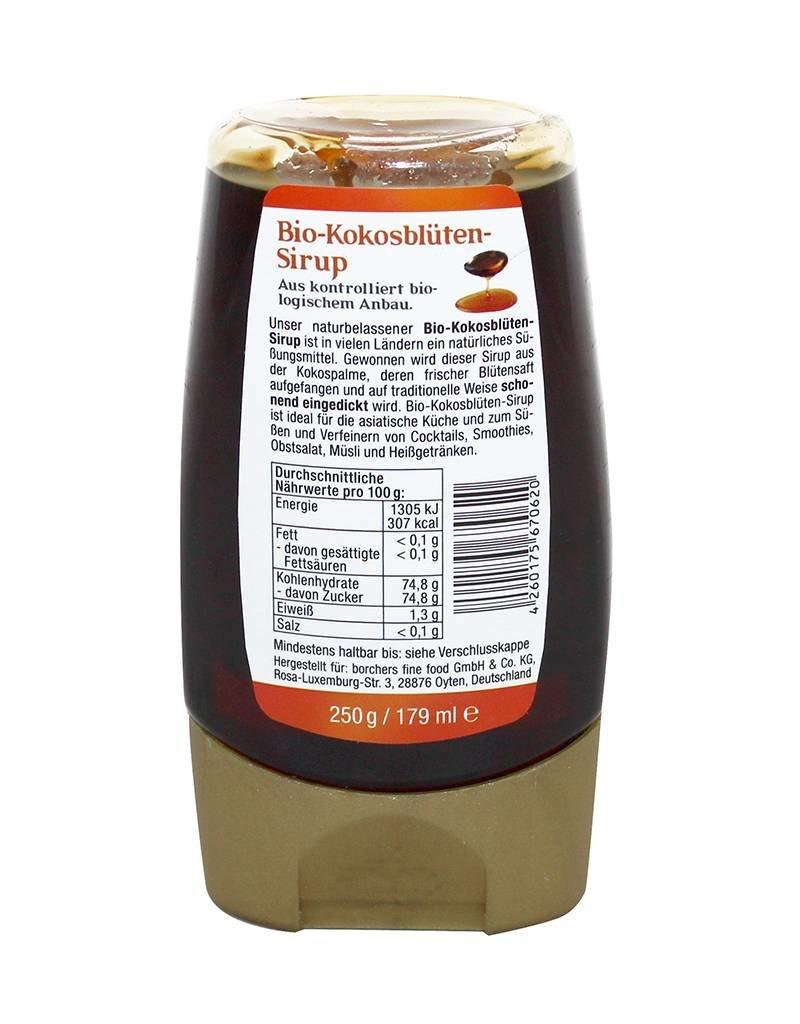bff borchers 4 x bff borchers Bio Kokosblüten-Sirup 250g