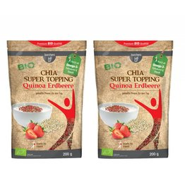 bff borchers 2 x borchers Bio Chia Super Topping Quinoa-Erdbeere 200g