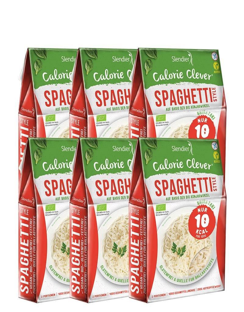Slendier 6 x Spaghetti-Style 250 g auf Basis von BIO-Konjakwurzel